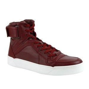 Gucci Basketball High-Top Sneaker, Strong Red